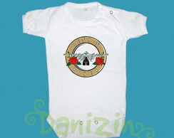 Body/T-Shirt Bebê/Infantil GUNS & ROSES