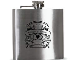 Porta whisky de inox 6oz 177 ml 390
