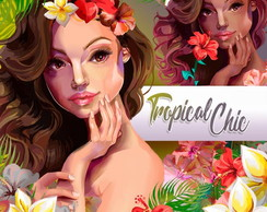 Kit digital - Tropical Chic #J303