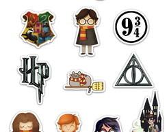 Ímãs Decorativos Harry Potter Set A - 12 unidades