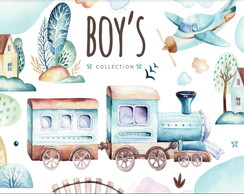 Kit Digital- Boys World Aquarela