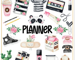 Kit Digital Planner Aquarelado
