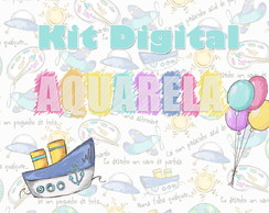 Kit Digital Aquarela