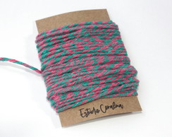 Barbante Twine Cotton - 3,5mm - Pink e Azul (10metros)