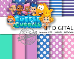 Kit papel digital Bubble Guppies