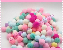 Pompom Candy Color 10mm - 100 Unidades