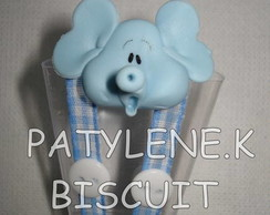 COPINHO  DECORADO ELEFANTE DE BISCUIT