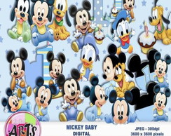 kit digital - Mickey Baby by Art's Festas e Eventos