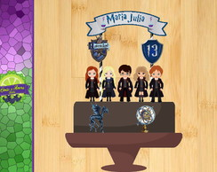 Topo de Bolo Harry Potter Corvinal