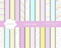 Papel Digital Candy Color 2