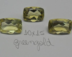 LINDO GREENGOLD LAPIDADO 10X15MM