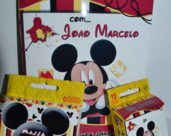 KIt colorir c/giz e massinha Mickey