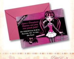 Convite Monster High - Draculaura