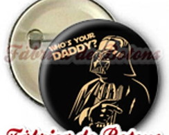 BOTON 2,5cm DARTH VADER WHO'S YOUR DADD