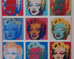 Quadrinho Retrô Marilyn Monroe Pop Art