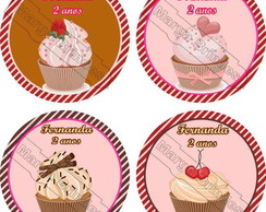 Cup cake mouse pad redondo