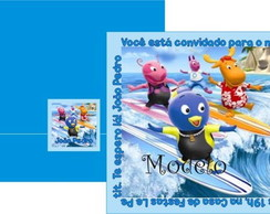 Convite Backyardigans Nova Onda do Surf