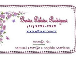 MOMMY CARD - Flores e borboletas