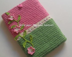 Capa Notebook Rosa/Verde