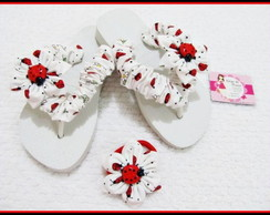 chinelo infantil customizado e rabicó