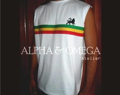 Camiseta  (machão) Reggae Roots BRANCA
