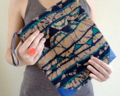 Clutch pencil case batik