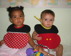 Babadores Baby Mickey e Minnie
