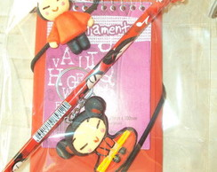 Kit escolar da Pucca