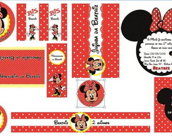 KIT MINNIE VERMELHA (Arquivo Digital)