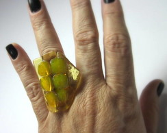 MAXI Anel- Vidro /  OVERSIZED Glass Ring