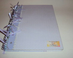 Caderno Universitário c papel scrapbook