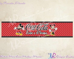 Rótulo para Mini-Coca Michey & Minnie