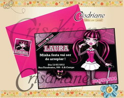 Convite Monster High Pink