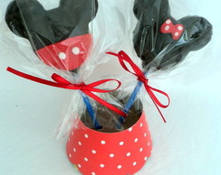 Cake pop da minnie e do mickey