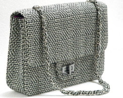 Bolsa Estilo Channel Tweed - Esgotada