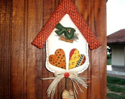 Enfeite de porta,Country Bird House