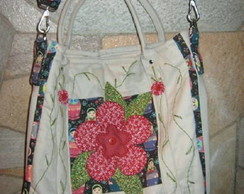 BOLSA ARTESANAL EXCLUSIVA EM PATCHWORK TRANSVERSAL NOTEBOOK
