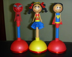 Super Herois - Canetas Decoradas