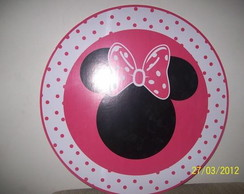 Placa pvc minnie rosa
