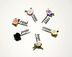 Kit c/ 06 mini flores *escolha as cores*