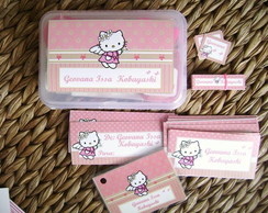 Kit Escolar 01: Hello Kitty Rosa e Nude