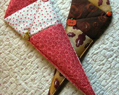 Porta tesouras patchwork