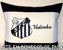 285f2a794d Almofada Bordada Futebol Santos