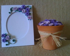 Kit Cartao + Vaso com Flores