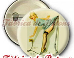 BOTON, 2,5cm PIN UP VINTAGE