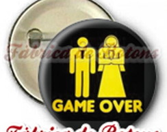 BOTON 2,5cm CASAL GAME OVER