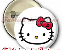 BOTON 2,5cm HELLO KITTY