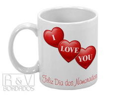 Caneca I Love You com frase