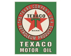 Placa MDF Retrô- Texaco Motor Oil - 58