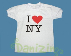 T-Shirt /Body Bebê e Infantil I LOVE NY